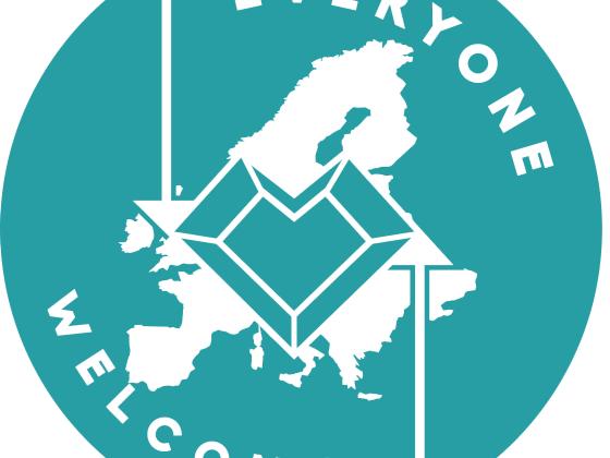 """Everyone Welcome"" - Refugee integration badge"