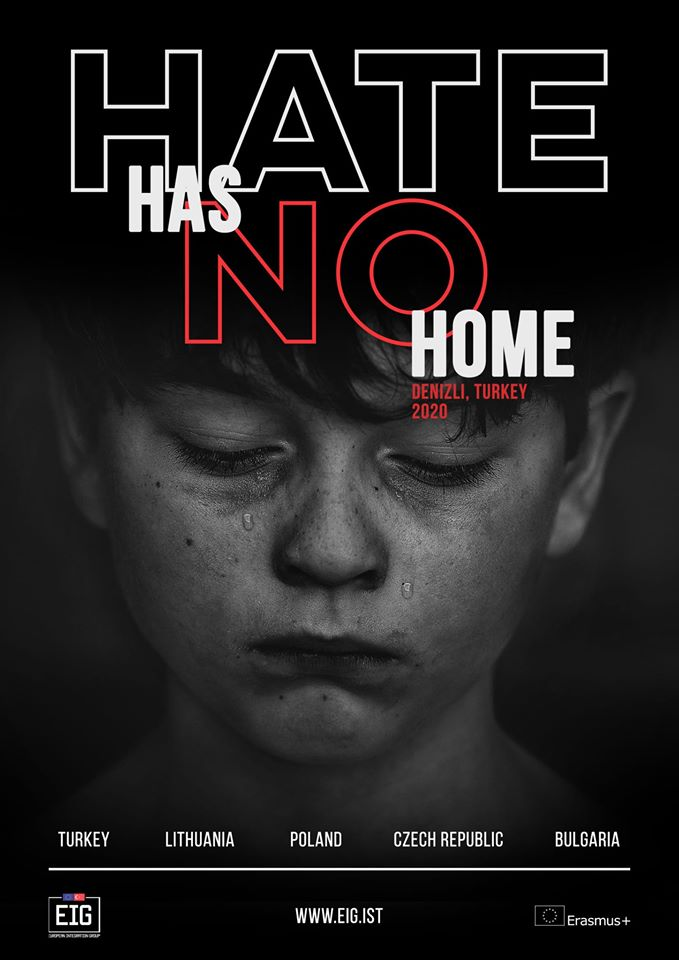 Hate has no home Erasmus+ project poster