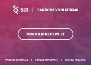 pagalba koronaviruso metu