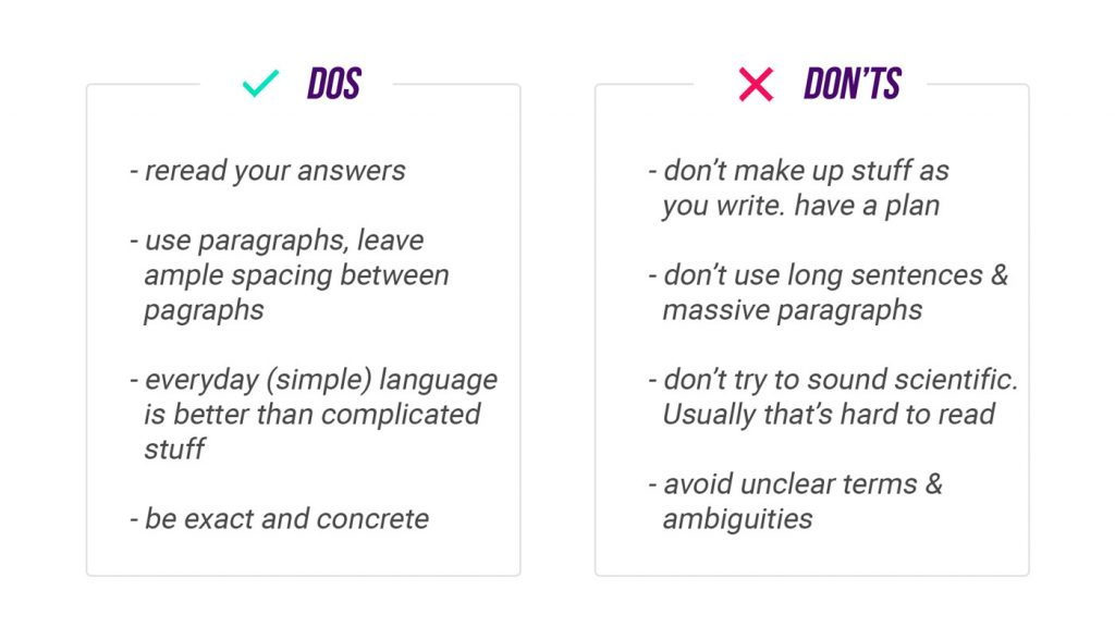 project writing dos and donts