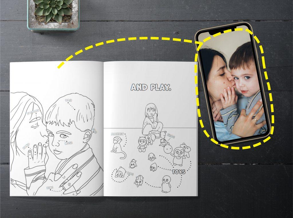 nauja dovana vaikui piesimo knyga