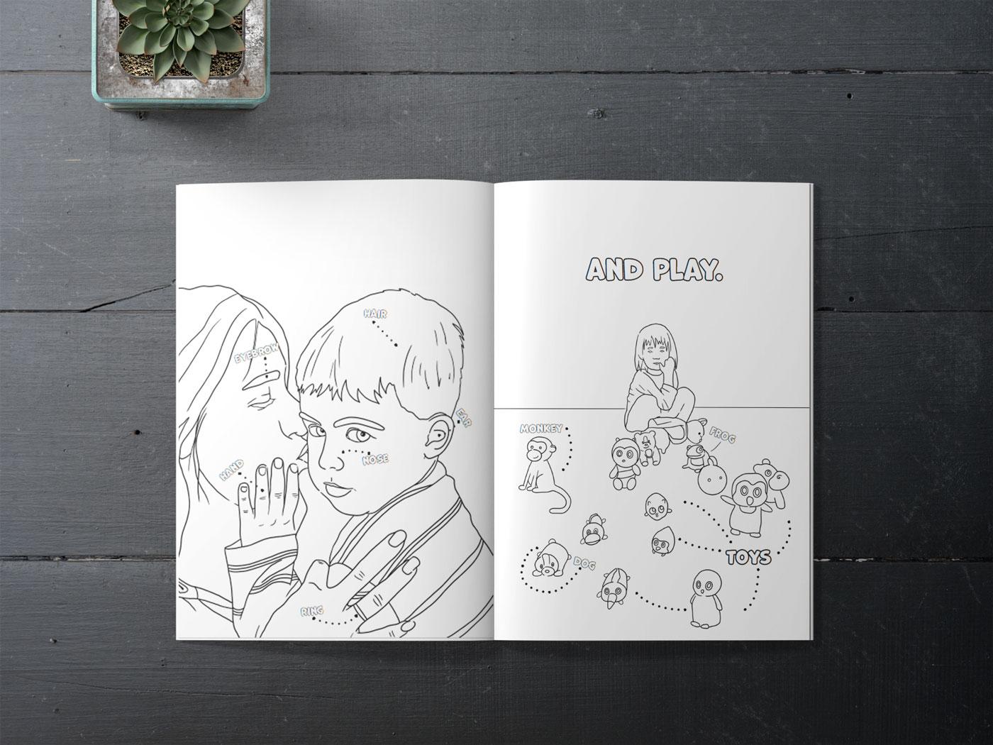 spalvinimo knyga su musu foto