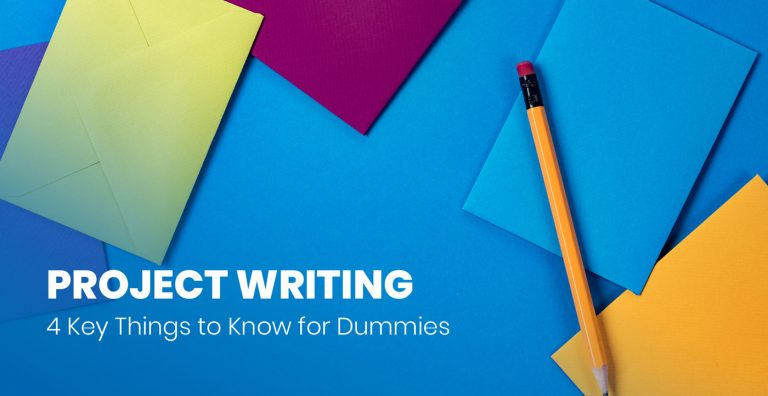 Project writing for dummies cover image