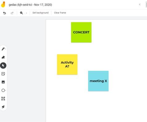 Google Jamboard brainstorming tool for NGOs