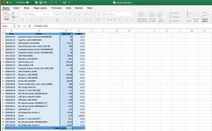 MS Excel screenshot to show the previously described trick