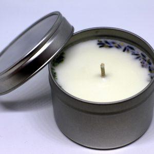 2.3 žvakė sidabriniame indelyje