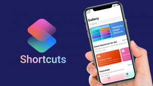 iOS shortcuts aplikacija